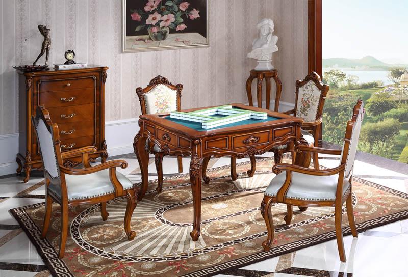 601#麻将桌+601#有扶手椅(展开)