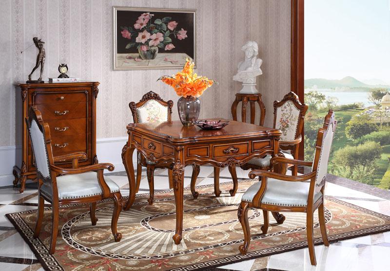 601#麻将桌+601#有扶手椅