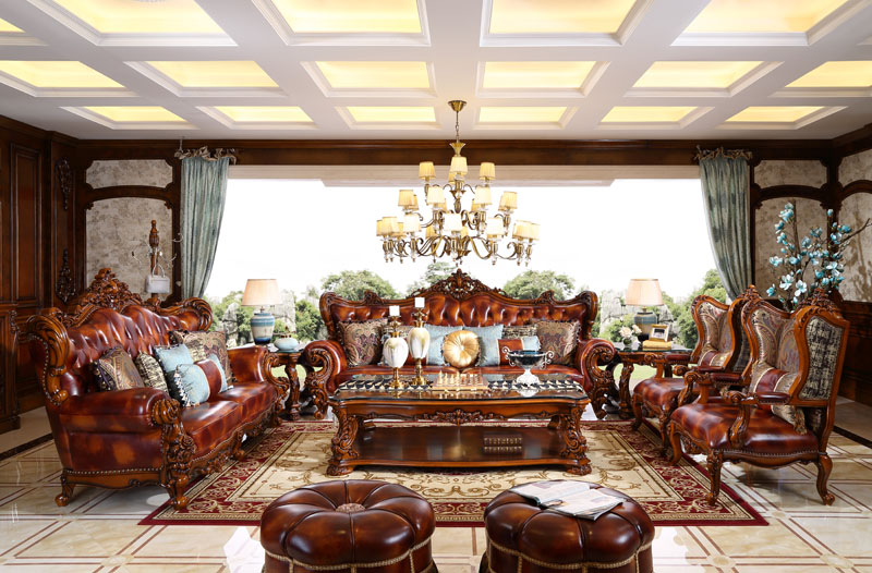 606#沙发(3+4+双单椅)